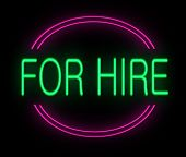 For Hire Sign.