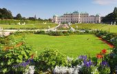 Vienna - Belvedere Palace With Flowers - Austria