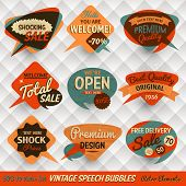 pic of 1950s style  - Vintage Style Speech Bubbles Cards - JPG
