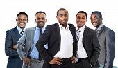 Young African American Business Man Leitung eines Teams