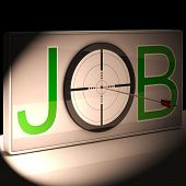 Job Target Shows Work And Career Vocation