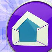 E-mail Symbol Shows Message Outbox Envelope Communication