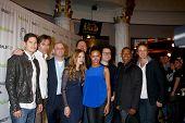 LOS ANGELES - MAR 2:  Revolution Cast, JJ Abrams, Jon Favreau arrives at the