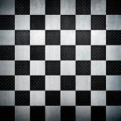 Fondo de metal de ajedrez