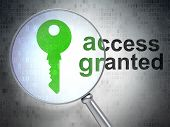 Protection concept: Key and Access Granted with optical glass