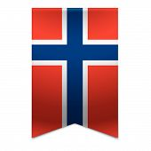 Ribbon Banner - Norwegian Flag