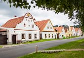 HOLASOVICE, CZECH REPUBLIC - AUGUST 11: village Holasovice, UNESCO World Heritage Site.