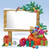 Christmas Wooden Sign Board