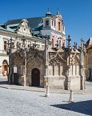Kutna Hora, Czech Republic. Gothic Fountain.