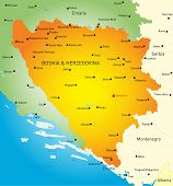 Vector map of Bosnia and Herzegovina country
