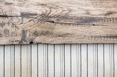 Old fabric background border wooden plank
