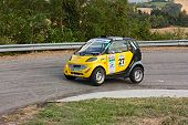 Mercedes Smart In Hairpin Bend