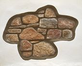 Abstract stone pattern on white wall