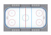 image of hockey arena  - Ice Hockey Field isolated on white background - JPG