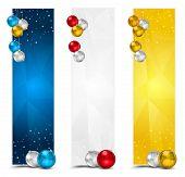Vertical Polygon Christmas Banners