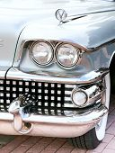 Classic Old Car Close-up Front Right View