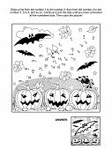 stock photo of spiderwebs  - Connect the dots picture puzzle and coloring page  - JPG