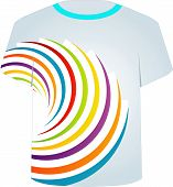 T Shirt Template- fractal circles