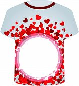 T Shirt Template-Valentine Hearts