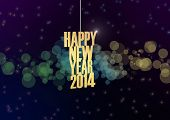 Happy New 2014 Year Text Abstract Background