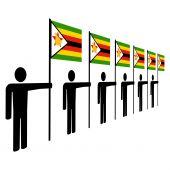 Men Holding Zimbabwean Flags