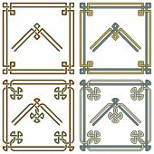 Celtic Knot Corners Patterns 3