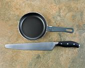 Kitchen Basics- Frying Pan And Bread Knife
