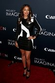 NEW YORK- OCT 24: TV personality La La Anthony attends the global premiere of Canon's
