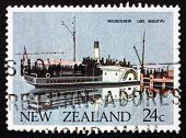 Postage Stamp New Zealand 1984 Ferry Mountaineer, Lake Wakatipu,