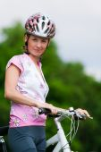 Smiling Pretty Girl - Cyclist