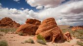 The Beehive rock formations in the Valley of Fire State Park, Nevada, USA