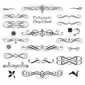 picture of flourish  - Great collection of arabesque decorative elements in vector format - JPG