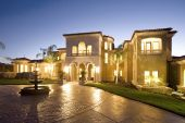 Luxury Home At Dusk