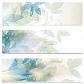 Abstract Brochures Set In Floral Style