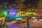 People By Night On Ocean Drive