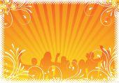 orange parque Hintergrund