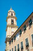 Bell Tower Of Basilica Dei Santi Gervasio E Protasio (circa 1118), Rapallo, Italy