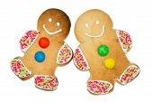 Isolated Gingerbread People