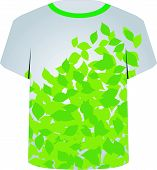 T Shirt Template- Spring leaves