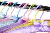 Beautiful hangers close up