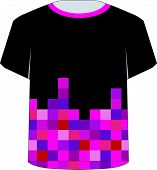 T Shirt Template- Pixel art
