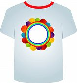T Shirt Template- colorful circles