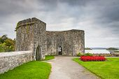 Gardens of Ashford castle in Ireland