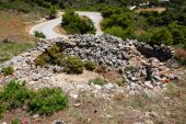 stock photo of emplacements  - World war two stone pill box gun emplacement remains in Zakynthos Greece - JPG