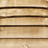 Detailed Close Surface Flooring Pine Boards. A Large Image Texture For Background Or Overlay. Sepia.