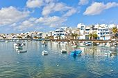 Charco De San Gines, The Laguna At The City Of Arrecife, Capital Of Lanzarote, Canary Islands