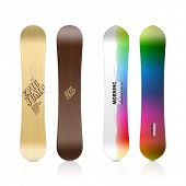 Snowboard design. Vector.