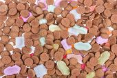 Background Of Ginger Nuts Ans Sweets. Candy At Dutch Sinterklaas Event