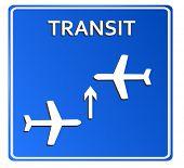 Blue Airport Icon, Transit..Vector illustration