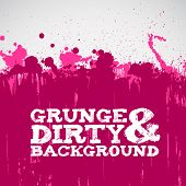 Abstract pink grunge ink splats background